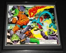 Fantastic Four vs The Skrulls Original Framed 1977 Marvel Poster 12x12