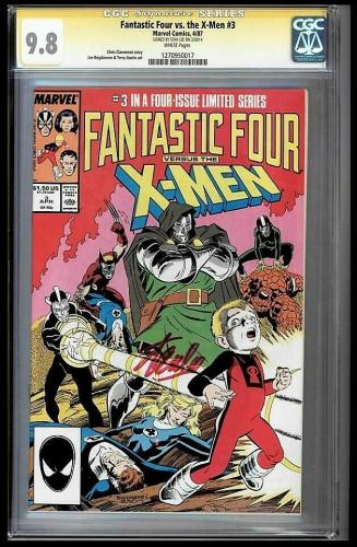 Fantastic Four Vs X-men #3 Cgc 9.8 Stan Lee Ss Highest Graded #1270950017