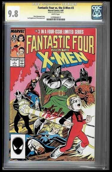 Fantastic Four Vs X-men #3 Cgc 9.8 Stan Lee Ss Highest Graded #1270950017