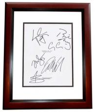 FANTASTIC MR. FOX Autographed Script by George Clooney, Meryl Streep, Jason Schwartzman, Bill Murray, Willem Dafoe, and Owen Wilson MAHOGANY CUSTOM FRAME