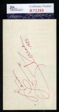 Farrah Fawcett Jsa Coa Hand Signed 3x5 Index Card Authenticated Autograph