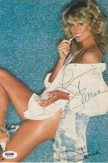 Farrah Fawcett Signed Authentic Autographed Magazine Page PSA/DNA LOA #V00733