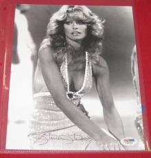 Farrah Fawcett signed black and white 8x10 photo, PSA