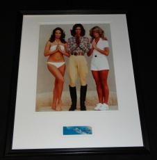 Farrah Fawcett Signed Framed 16x20 Photo Poster Display Charlie's Angels