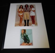 Farrah Fawcett Signed Framed 18x24 Photo Display Charlie's Angels
