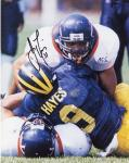James Farrior Virginia Cavaliers Autographed 8'' x 10'' Making Tackle Photograph