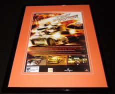Fast and the Furious 2006 PS2 Framed 11x14 ORIGINAL Vintage Advertisement