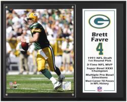 """Brett Favre Green Bay Packers Sublimated 12"""" x 15"""" Player Plaque"""