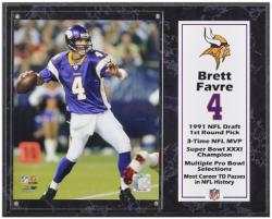"Brett Favre Minnesota Vikings Sublimated 12"" x 15"" Player Plaque"