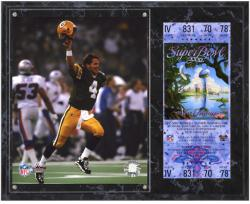 Green Bay Packers Super Bowl XXXI Brett Favre Plaque with Replica Ticket - Mounted Memories
