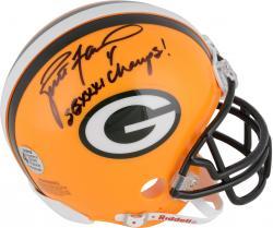 Brett Favre Green Bay Packers Riddell Mini Helmet with Champs XXXI Inscription