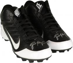 Brett Favre Green Bay Packers Autographed Cleats - Mounted Memories
