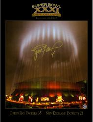 """Brett Favre Green Bay Packers Autographed 18"""" x 24"""" Halo Photograph"""