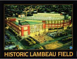 "Brett Favre Green Bay Packers Autographed 18"" x 24"" Historic Lambeau Photograph"
