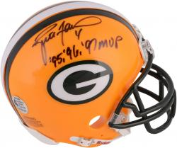 Brett Favre Green Bay Packers Riddell Mini Helmet with MVP 95-97 Inscription