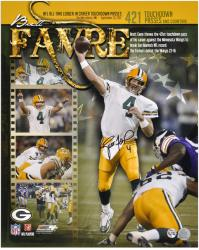 Brett Favre Green Bay Packers 421st Touchdown Collage Autographed 16'' x 20'' Photograph - Mounted Memories
