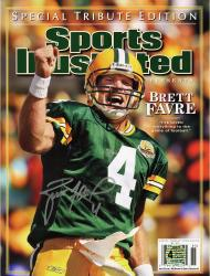 Brett Favre Green Bay Packers Autographed Sports Illustrated Magazine