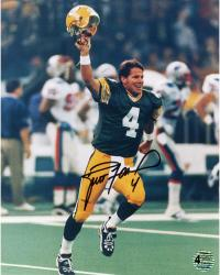Brett Favre Green Bay Packers Autographed 8'' x 10'' The Kid Photograph - Mounted Memories