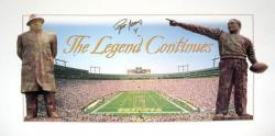 Brett Favre Green Bay Packers Lambeau Field The Legend Continues Autographed 21'' x 36'' Panoramic Collage Photograph - Mounted Memories