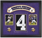 Minnesota Vikings Brett Favre Framed Jersey