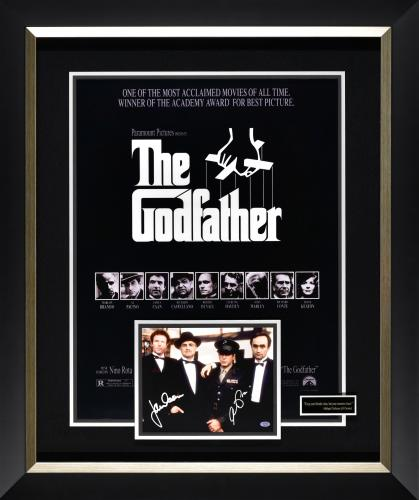 Features signed photograph by Al Pacino and James Caan from The Godfather