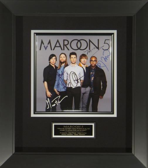 Features signed photograph from all members of Maroon 5.