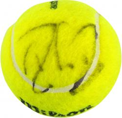 Roger Federer Autographed Australian Open Logo Tennis Ball