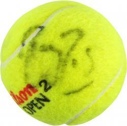 Roger Federer Autographed US Open Logo Tennis Ball