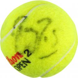 Roger Federer Autographed US Open Logo Tennis Ball