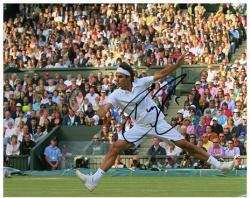 "Roger Federer Autographed 8"" x 10"" White Horizontal Photograph"