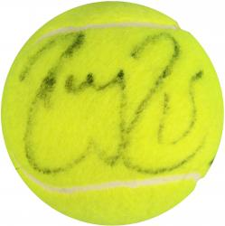 Roger Federer & Rafael Nadal Dual Autographed French Tennis Ball