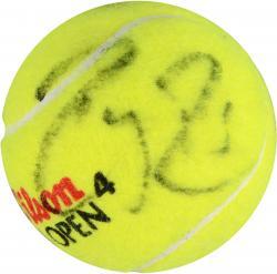 Roger Federer & Rafael Nadal Dual Autographed US Open Logo Tennis Ball