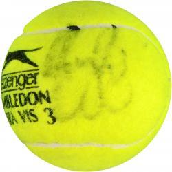 Roger Federer & Rafael Nadal Dual Autographed Wimbledon Logo Tennis Ball