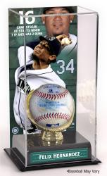 Felix Hernandez Seattle Mariners Game Used Streak Baseball and Sublimated Display Case