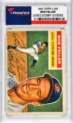 FELLER, BOB AUTO (1956 TOPPS # 200) CARD - Mounted Memories