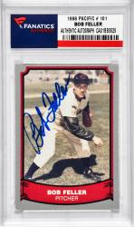 FELLER, BOB AUTO (1998 PACIFIC # 101) CARD - Mounted Memories