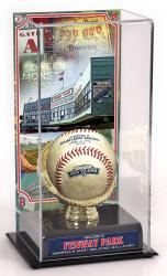 FENWAY PARK COLLAGE BALL DISPLAY CASE (IMAGE w/GG HOLDER)