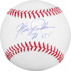 "Fergie Jenkins Autographed Baseball with ""71 CY"" Inscription"