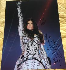 FERGIE SIGNED AUTOGRAPH BLACK EYED PEAS ON STAGE HOT POSE 11x14 PHOTO COA