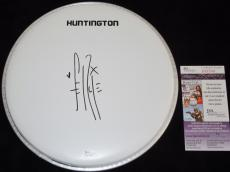 Fergie Signed - Autographed Drum Head with BLACK EYED PEAS logo sticker - JSA Certificate of Authenticity