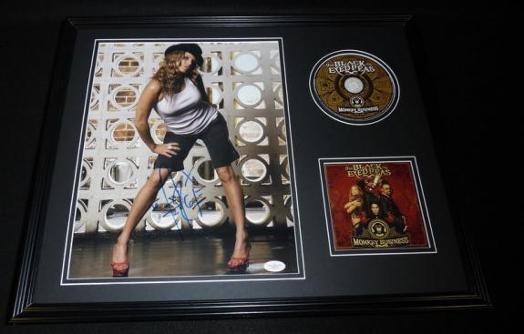 Fergie Signed Framed 16x20 CD & Photo Set JSA Black Eyed Peas Monkey Business
