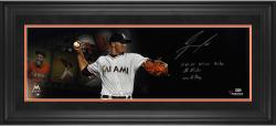 Jose Fernandez Miami Marlins Framed Autographed 10'' x 30'' Film Photograph with Multiple Inscriptions - Limited Edition of 16 - Mounted Memories