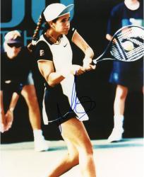 Mary Joe Fernandez Autographed 8'' x 10'' Swinging Racquet Photograph