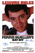 "Ferris Bueller's Day Off Autographed 11"" x 17"" Movie Poster with 3 Signatures"