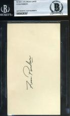 Fess Parker Bas Beckett Authenticated Signed 3x5 Index Card Autograph