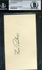 Fess Parker Bas Beckett Authentication Signed 3x5 Index Card Autograph