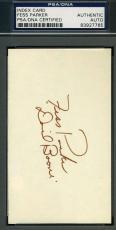Fess Parker Daniel Boone Signed 3x5 Index Card Psa/dna Cert Authentic Autograph