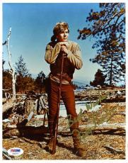 Fess Parker Daniel Boone Signed Psa/dna 8x10 Photo Authenticated Autograph