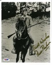 Fess Parker Davy Crockett Signed Psa/dna 8x10 Photo Authenticated Autograph