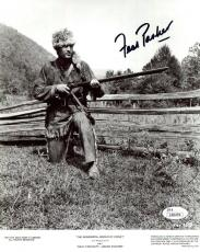 FESS PARKER HAND SIGNED 8x10 PHOTO     BEST POSE EVER    DAVY CROCKETT       JSA